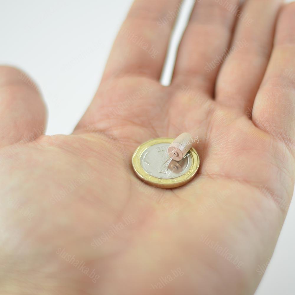 микрослушалка в ръка - размери